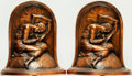 """Books:Furniture & Accessories, [Bookends]. Pair of Matching """"Lost Hope"""" Bookends. K&O, Circa1932.... (Total: 2 Items)"""
