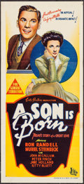 "Movie Posters:Drama, A Son is Born (British Empire Films, 1946). Australian Daybill (Approx. 13.75"" X 30""). Drama.. ..."