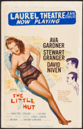 """Movie Posters:Comedy, The Little Hut (MGM, 1957). Window Card (14"""" X 22""""). Comedy.. ..."""