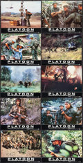"Movie Posters:Academy Award Winners, Platoon (Orion, 1986). Autographed German Lobby Card Set of 20 (9.25"" X 11.75""). Academy Award Winners.. ... (Total: 20 Items)"