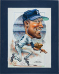 Baseball Collectibles:Others, 2000's Derek Jeter Original Artwork by Petronella....