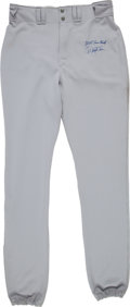 Baseball Collectibles:Others, 2005 Derek Jeter Game Worn Pants with Yankees-Steiner Letter. ...