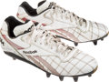Football Collectibles:Others, Early 1990's Derrick Thomas Game Worn, Signed Kansas City Chiefs Cleats....