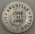 Anguilla, Anguilla: Provisional Government Trio of Countermarked LibertyDollars 1967, ... (Total: 3 coins)