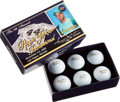 Baseball Collectibles:Others, 2006 Reggie Jackson Invitational Unused Golf Balls in OriginalBox....