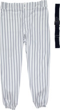 Baseball Collectibles:Uniforms, 1990's Bobby Murcer Game Worn New York Yankees Old-Timers' Day Pants & Belt from The Bobby Murcer Collection. ...