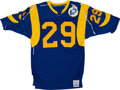 Football Collectibles:Uniforms, 1985 Eric Dickerson Game Worn, Signed Los Angeles Rams Jersey. ...