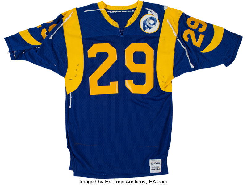 Game Los Eric 82211 Lot Rams Auctions Dickerson Worn 1985 Jersey Heritage Signed Angeles