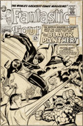 Original Comic Art:Covers, Jack Kirby and Joe Sinnott Fantastic Four #52 Unused First Black Panther Cover Original Art (Marvel, 1966)....