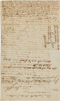 Autographs:Statesmen, Declaration Signer Abraham Clark Autograph Docket Signed on Versoof a Legal Writ. ...