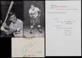 Miscellaneous Collectibles:General, Misc. Sports Notables Signed Lot of 4....