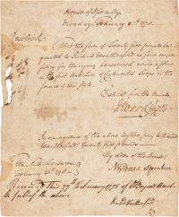 [Revolutionary War]. House of Assembly Resolution Awarding Payment