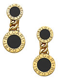 Estate Jewelry:Earrings, Black Onyx, Gold Earrings, Bvlgari. ...