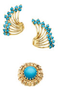 Estate Jewelry:Suites, Turquoise, Gold Jewelry . ... (Total: 3 Items)