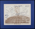 Baseball Collectibles:Others, 1961 New York Yankees Team Signed Print - World Championship Season!...