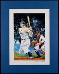 Baseball Collectibles:Others, Joe DiMaggio Signed Print....