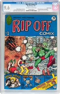 Rip Off Comix #1 Haight-Ashbury Pedigree (Rip Off Press, 1977) CGC NM+ 9.6 Off-white to white pages