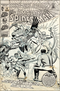 John Romita Sr. Amazing Spider-Man Annual #6 Cover Original Art (Marvel, 1969)
