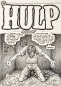 Original Comic Art:Covers, Robert Crumb Hulp Comics Self Portrait Cover Original Art(Last Gasp, 1992)....