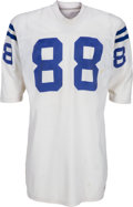 Football Collectibles:Uniforms, 1971 John Mackey Game Worn, Signed Baltimore Colts Jersey - Most Likely Used in Super Bowl V....