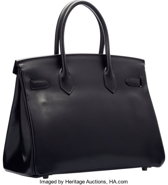 Hermes Limited Edition 30cm So Black Calf Box Leather Birkin  62ac9d83f480f