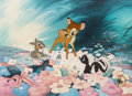 Animation Art:Limited Edition Cel, Bambi, Thumper, and Flower Limited Edition Cel (Walt Disney,1988)....