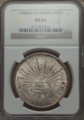 Mexico, Mexico: Republic Peso 1908 Mo-GV MS64 NGC,...