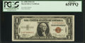 Small Size:World War II Emergency Notes, Fr. 2300 $1 1935A Hawaii Silver Certificate. PCGS Gem New 65PPQ.. ...