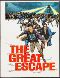 "The Great Escape (United Artists, 1963). Promotional Brochure Printer's Proof (18.5"" X 24.5"") DS. War"