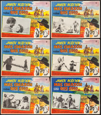 """The Searchers (Warner Brothers, 1956). Mexican Lobby Card Sets of 8 (2 Sets) (12.5"""" X 16.5""""). Western. ... (To..."""