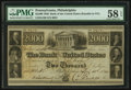 Obsoletes By State:Pennsylvania, Philadelphia, PA- Bank of the United States $2000 Dec. 15, 1840 G102. ...