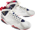Basketball Collectibles:Others, 1992 Olympic Games Michael Jordan Game Worn & Signed USA Basketball Dream Team Sneakers - Fischer Collection....