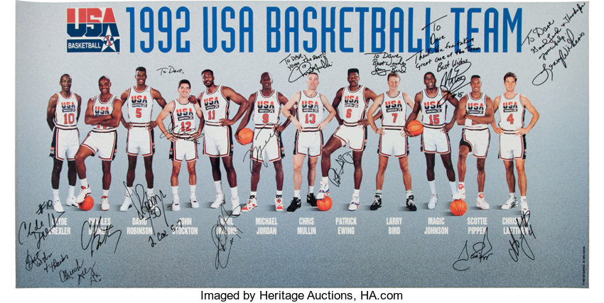 31bb4f814 1992 Dream Team Signed Poster - Fischer Collection.. ... Basketball ...