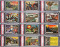 Non-Sport Cards:Sets, 1962 Topps Civil War News PSA Graded Complete Set (88) - Card #'s 1and 88 are NM-MT. ...
