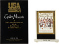 """Basketball Collectibles:Others, 1992 USA Basketball Dream Team """"Golden Moments"""" Event Program and Display - Fischer Collection...."""
