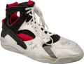 Basketball Collectibles:Others, 1992 Olympic Games Christian Laettner Game Worn & Signed USABasketball Dream Team Sneaker - Fischer Collection....