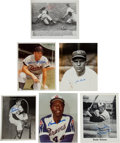 Baseball Collectibles:Photos, 1980's Baseball Hall of Famers Signed Photographs Lot of 37....
