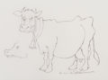 Mainstream Illustration, Maurice Sendak (American, 1928-2012). Annoyed Cow. Pencil ontracing paper. 9 x 12 in. (sheet). Signed lower right. ...