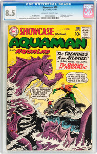 Showcase #30 Aquaman (DC, 1961) CGC VF+ 8.5 Off-white to white pages