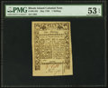Colonial Notes:Rhode Island, Rhode Island May 1786 1s PMG About Uncirculated 53 EPQ.. ...