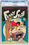 Golden Age (1938-1955):Funny Animal, Funny Stuff #5 (DC, 1945) CGC FN/VF 7.0 Off-white pages....