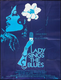 "Lady Sings the Blues (Paramount, 1973). French Grande (45.5"" X 60.5""). Drama"