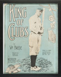 "Baseball Collectibles:Others, 1912 Ty Cobb ""King of Clubs"" Sheet Music...."
