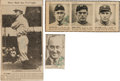 Baseball Collectibles:Others, 1950's Ty Cobb Signed Newspaper Photographs Lot of 3. ...