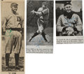 Baseball Collectibles:Photos, 1950's Ty Cobb Signed Magazine Photographs Lot of 3. ...