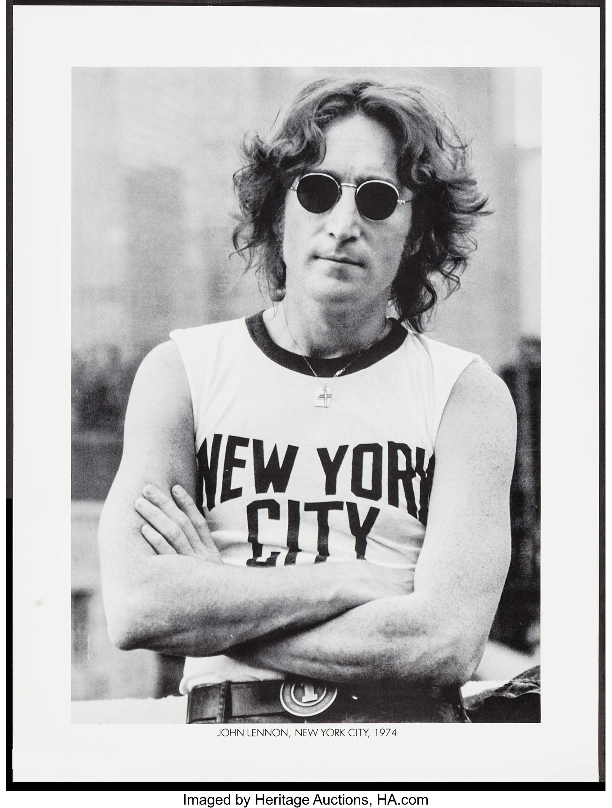 John Lennon By Bob Gruen 1980s Personality Poster 18 X 24 Lot 53228 Heritage Auctions