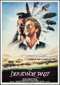 """Dances with Wolves (Constantin Film, 1991). German Poster (23.25"""" X 33""""). Western"""