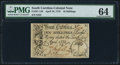 Colonial Notes:South Carolina, South Carolina April 10, 1778 10s PMG Choice Uncirculated 64.. ...