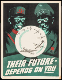 "World War II Propaganda (Douglas Aircraft, 1940s). Poster No. 866 (17"" X 22"") ""Their Future - Depends on..."