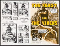 """The Beast and the Vixens & Others Lot (Sophisticated Films, 1974). Uncut Pressbooks (50) (Multiple Pages, 11"""" X..."""